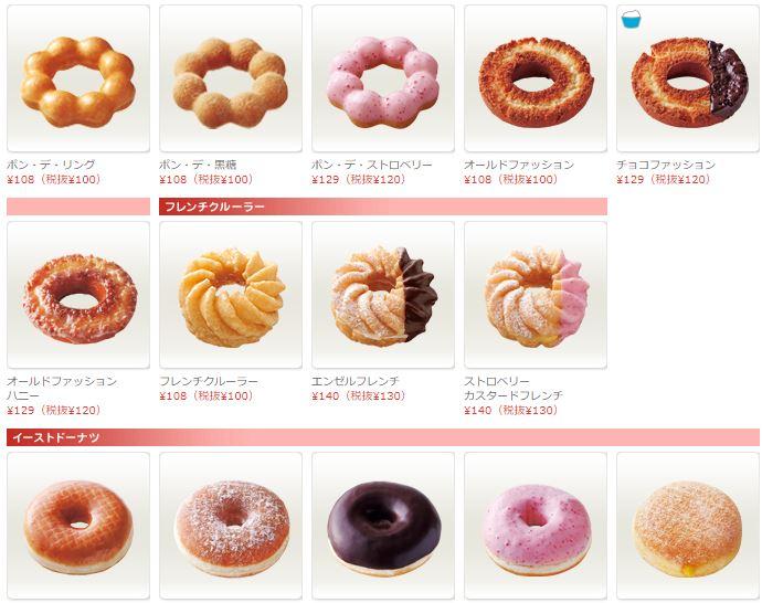 ミスド人気メニューランキング!一番美味しくておすすめのドーナツは!みんなが好きなのは?